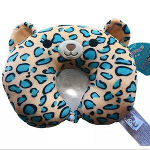 RARE NWT Squishmallows Liv the cheetah neck pillow